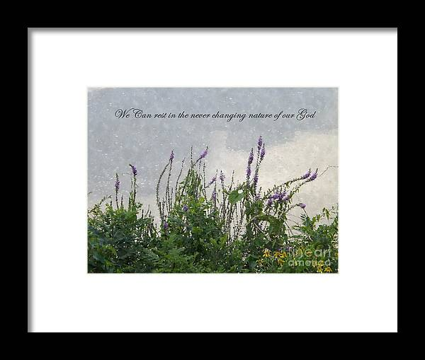 Nature Framed Print featuring the photograph Blowing In The Breeze by Sara Raber