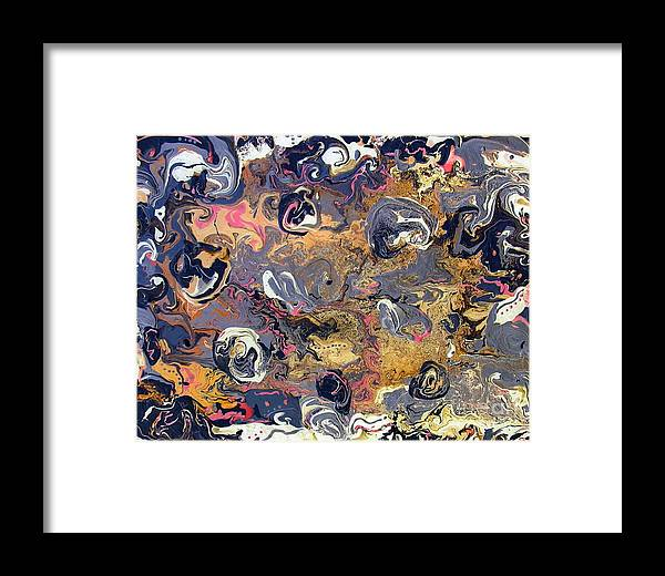 Blowing Winds Framed Print featuring the painting Blowing Winds by Dawn Hough Sebaugh