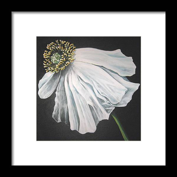 Poppy Framed Print featuring the painting Blown in the Wind by Eileen Kasprick