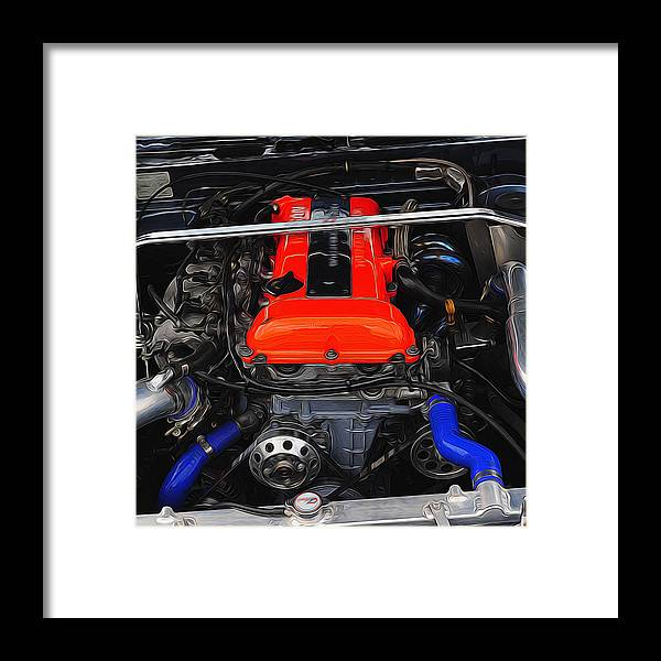 Nissan Framed Print featuring the digital art Blown Nissan by Joe Sparks