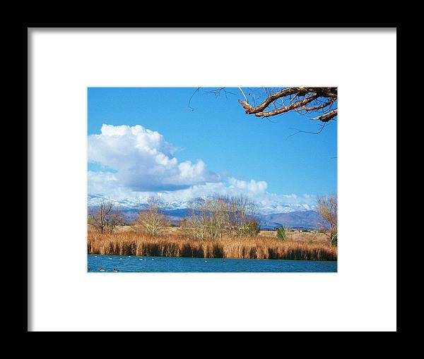 Landscape Framed Print featuring the photograph Blu by Jacqueline Lewis