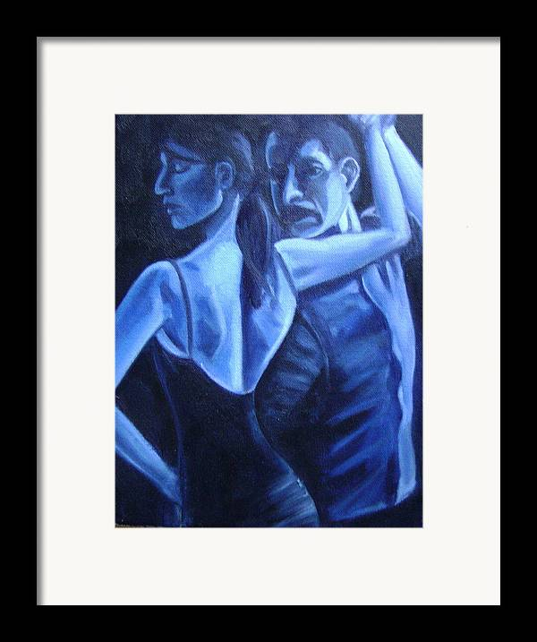 Framed Print featuring the painting Bludance by Toni Berry