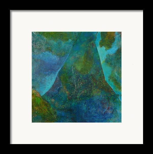 Under Sea Landscape Framed Print featuring the print Blue .9. by Meltem Quinlan