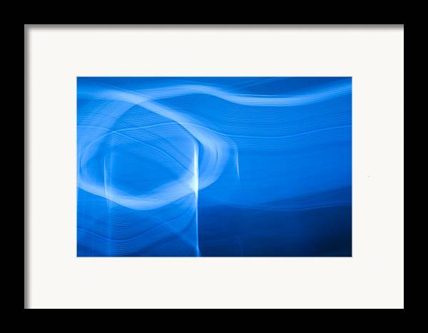Blue Framed Print featuring the photograph Blue Abstract 2 by Mark Weaver