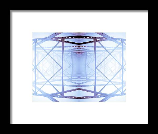 Abstract Framed Print featuring the photograph Blue Abstract by Keith Allen