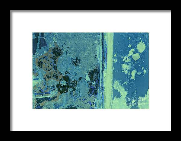 Blue Framed Print featuring the photograph Blue Abstraction by David Gordon