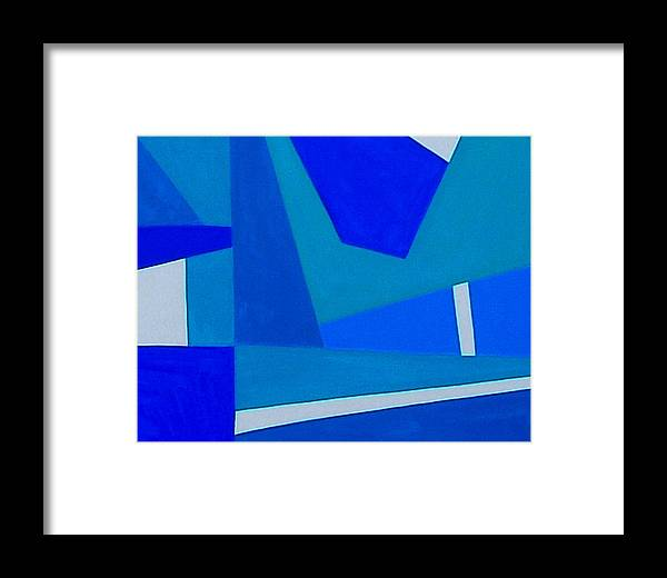 Abstract Framed Print featuring the photograph Blue Alert Detail 1 by Dick Sauer