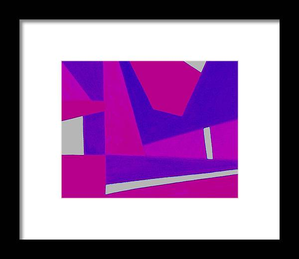 Abstract Framed Print featuring the photograph Blue Alert Detail 2 by Dick Sauer