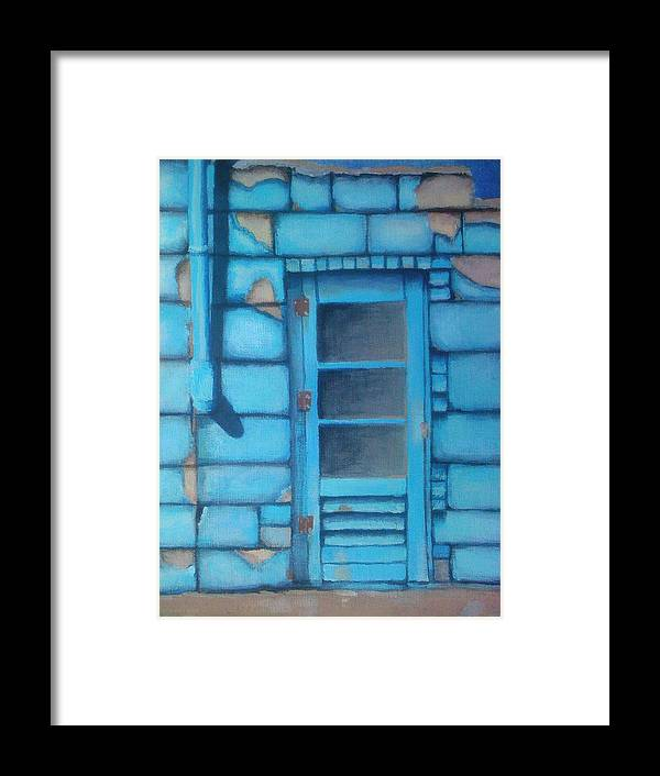 Blue Framed Print featuring the painting Blue Alley by Corbin Runnels