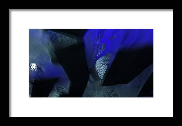 Abstract Framed Print featuring the photograph Blue And Black No. 1 by Rauno Joks