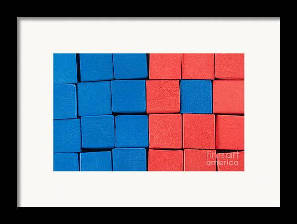 Blue Framed Print featuring the photograph Blue And Orange by Dan Holm
