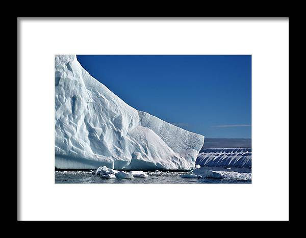 Iceberg Framed Print featuring the photograph Blue And White by Chris Hanlon