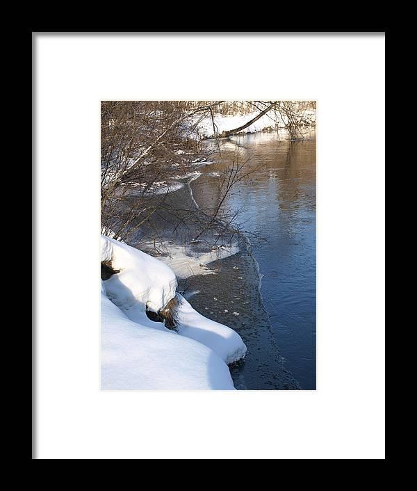 River Framed Print featuring the photograph Blue And White by Helene Keehne