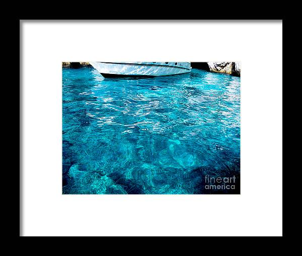 Mike Ste. Marie Framed Print featuring the photograph Blue And White by Mike Ste Marie