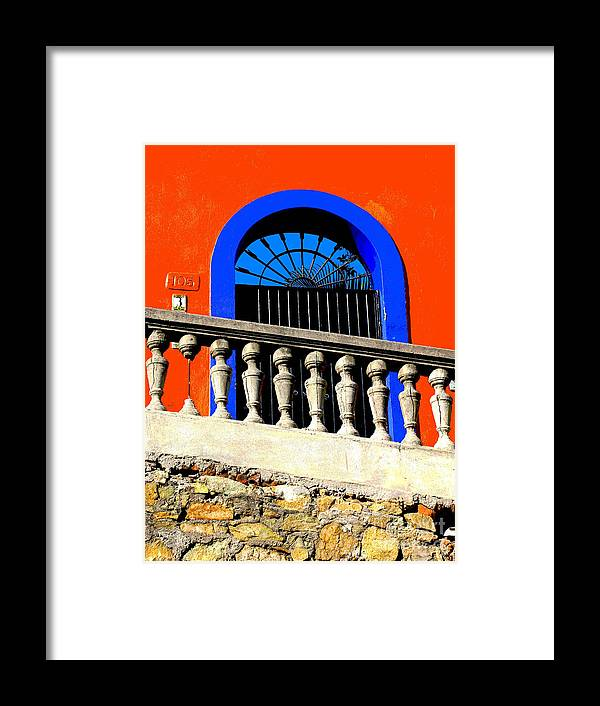 Michael Fitzpatrick Framed Print featuring the photograph Blue Arch 1 By Michael Fitzpatrick by Mexicolors Art Photography
