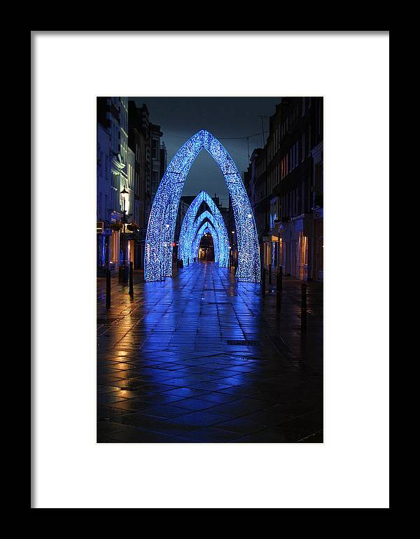 Jez C Self Framed Print featuring the photograph Blue Arch by Jez C Self