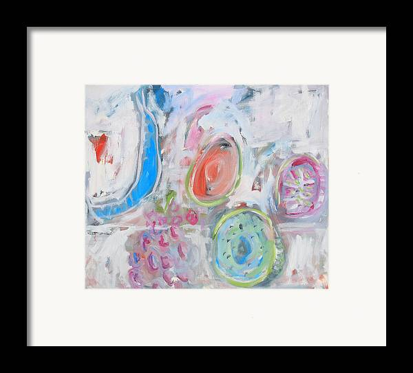 Still Life Framed Print featuring the painting Blue Banana by Michael Henderson