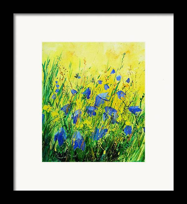 Poppies Framed Print featuring the painting Blue Bells by Pol Ledent