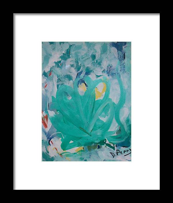 Blue Art Print Framed Print featuring the painting Blue Blue by D Perry