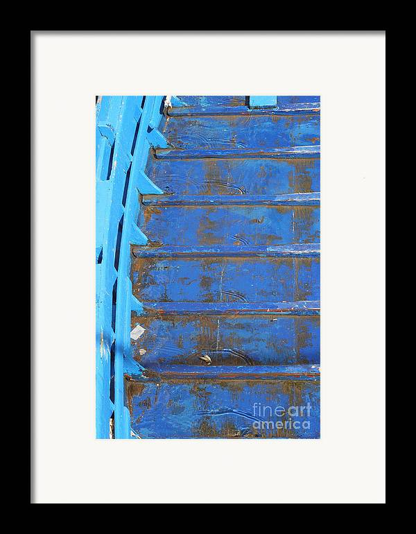 Venice Framed Print featuring the photograph Blue Boat In Venice by Michael Henderson