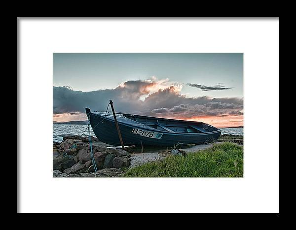 Boat Framed Print featuring the photograph Blue Boat by Sam Smith