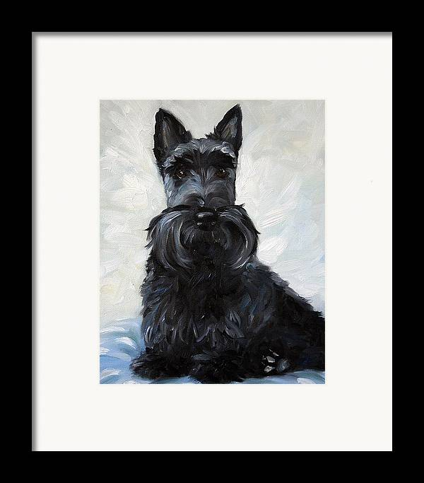 Art Framed Print featuring the painting Blue Boy by Mary Sparrow