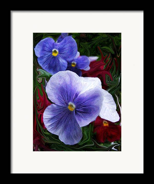 Flower Framed Print featuring the photograph Blue Boys by Jim Darnall