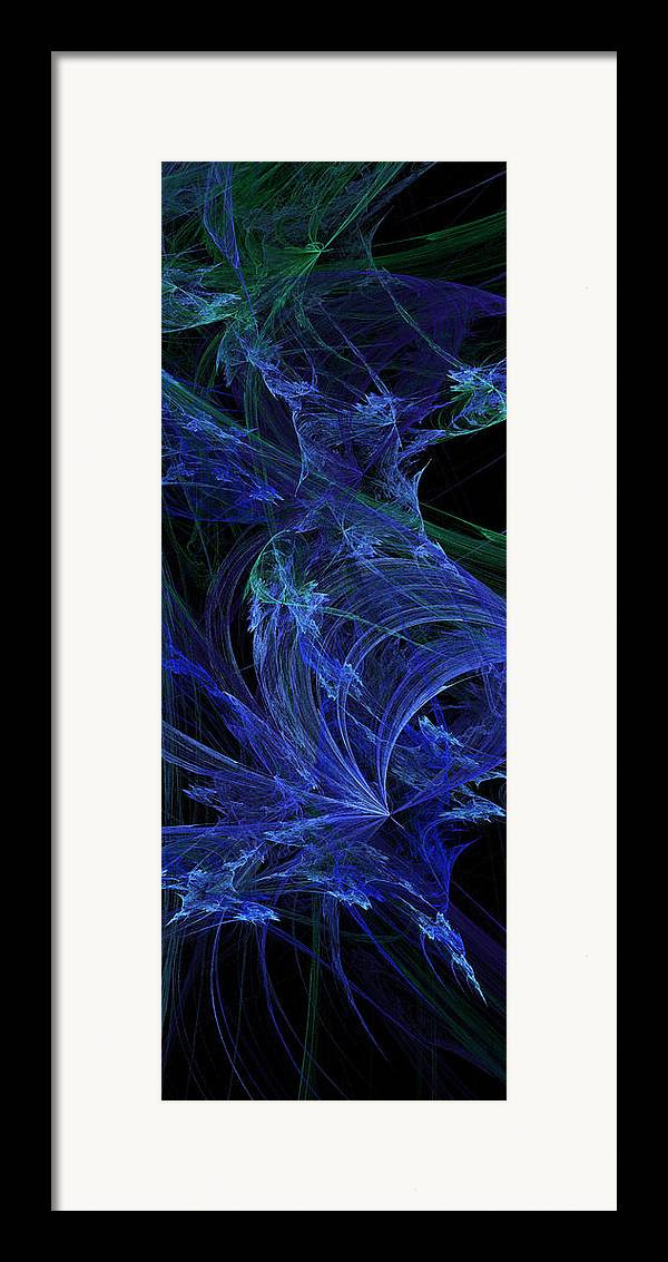 Fractal Framed Print featuring the digital art Blue Breeze by Andee Design