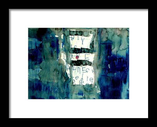 Abstract Framed Print featuring the painting Blue Building by Alfred Resteghini