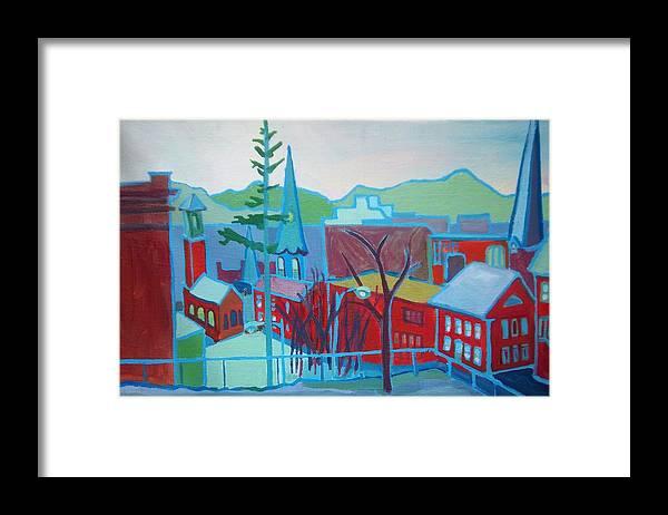 Burlington Framed Print featuring the painting Blue Burlington by Debra Bretton Robinson