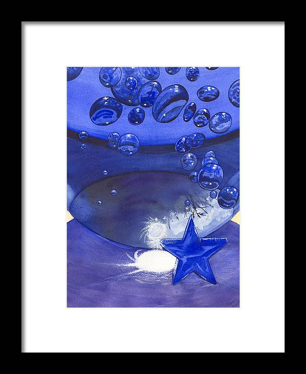 Blue Framed Print featuring the painting Blue by Catherine G McElroy