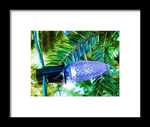 Christmas Framed Print featuring the photograph Blue Christmas Light by Sanda Kateley
