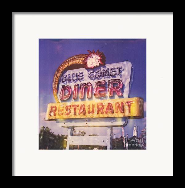 Polaroid Framed Print featuring the photograph Blue Comet Diner - Hazelton by Steven Godfrey