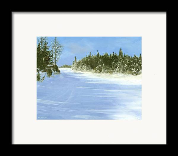 Ski Framed Print featuring the painting Blue Cruiser by Ken Ahlering