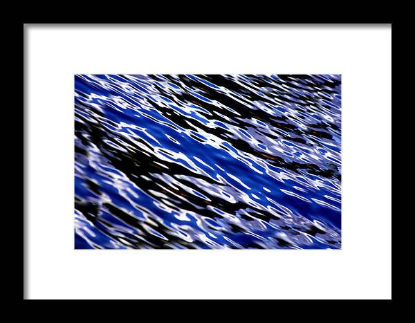 Water Framed Print featuring the photograph Blue Current by Donna Blackhall