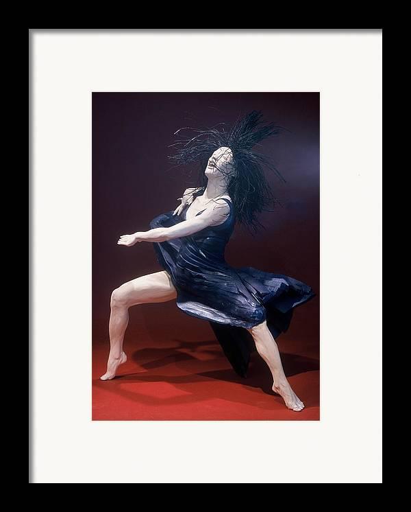Dance Framed Print featuring the sculpture Blue Dancer Left View by Gordon Becker