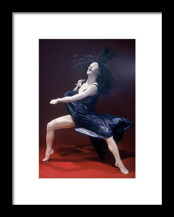 Dance Framed Print featuring the sculpture Blue Dancer Left View by Gordon Becker