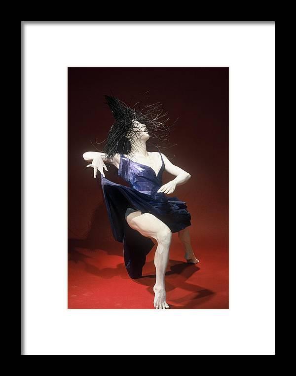 Dance Framed Print featuring the sculpture Blue Dancer Right View by Gordon Becker