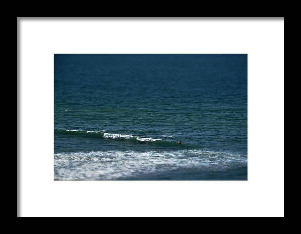 Beach Framed Print featuring the photograph Blue Deep by Leticia GG