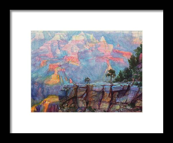 Southwest Framed Print featuring the painting Blue Depths by Steve Henderson