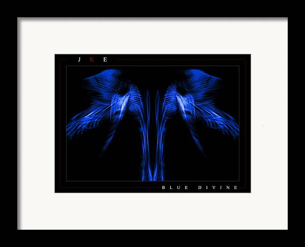 Blue Framed Print featuring the photograph Blue Divine by Jonathan Ellis Keys
