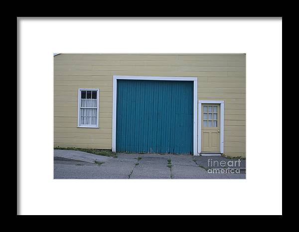 Old Wooden Door. Framed Print featuring the photograph Blue Door by Dennis Curry