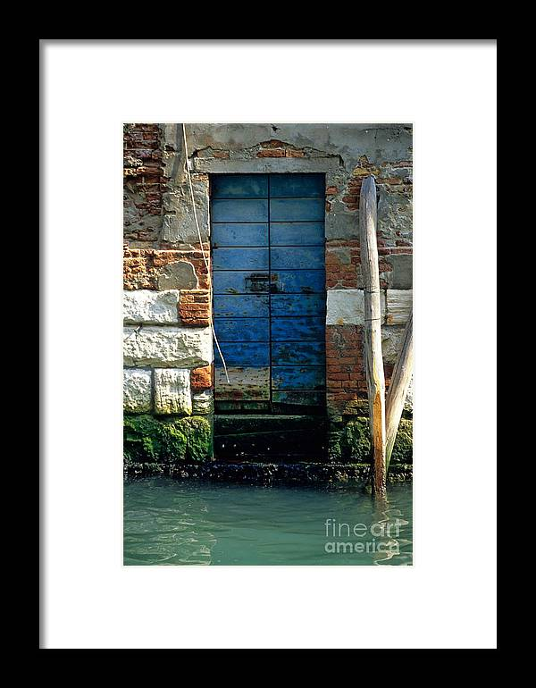 Venice Framed Print featuring the photograph Blue Door In Venice by Michael Henderson