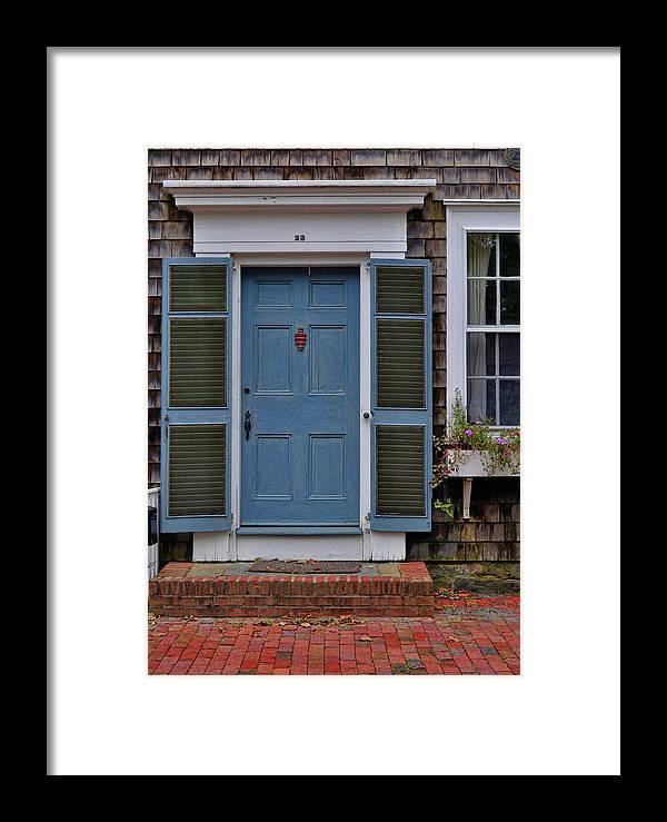 Nantucket Framed Print featuring the photograph Nantucket Blue Door by JAMART Photography