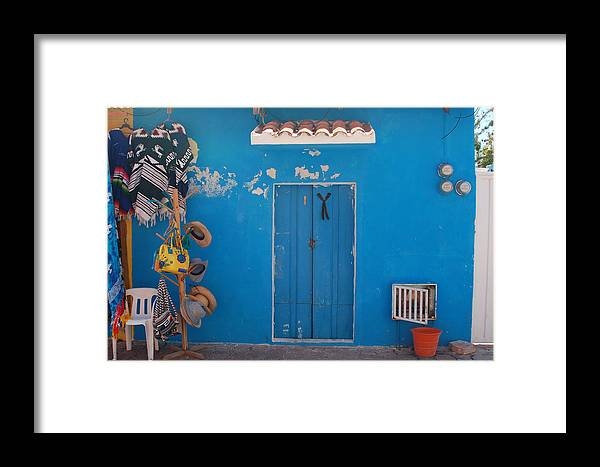 Doors Framed Print featuring the photograph Blue Doors In Mexico by Mary Pearson