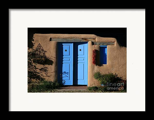Doors Framed Print featuring the photograph Blue Doors by Timothy Johnson