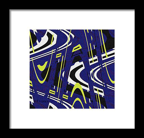 Blue Drawing Abstract Framed Print featuring the photograph Blue Drawing Abstract by Tom Janca