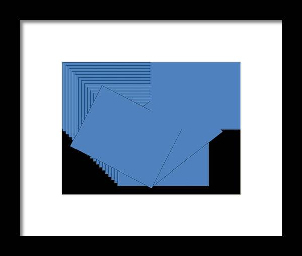 Framed Print featuring the digital art Blue by Edith Womack