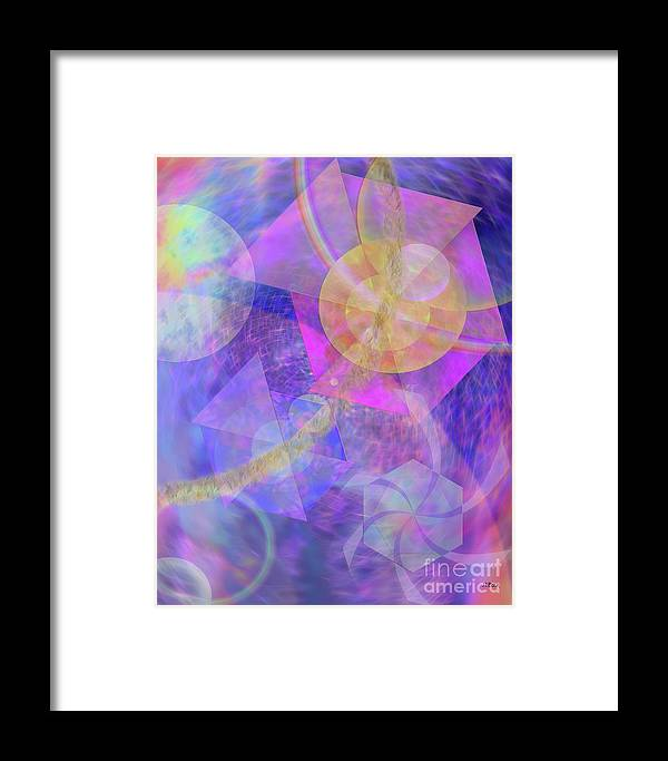 Blue Expectations Framed Print featuring the digital art Blue Expectations by John Beck