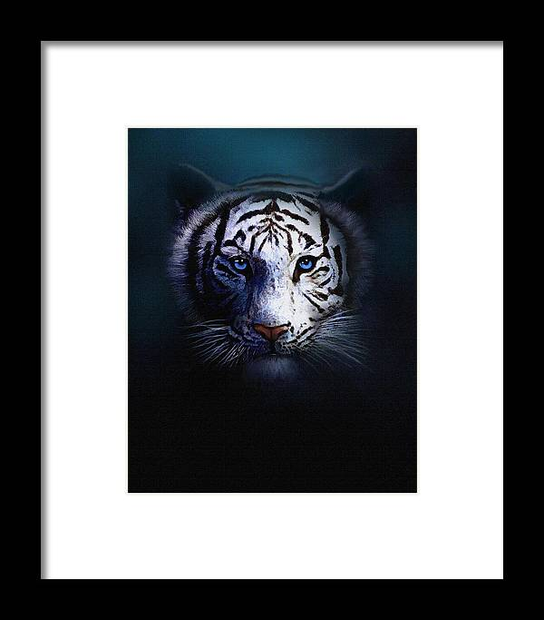 Tiger Framed Print featuring the painting Old Blue Eyes by Robert Foster